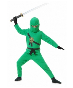 Green Ninja Kids Costume