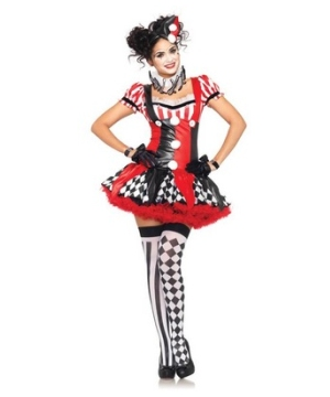 Harlequin Clown Women Costume