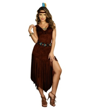 Hot on the Trail Indian Womens Costume