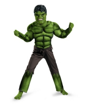 The Avengers Hulk Muscle Kids Costume