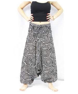 Spiral Harem Yoga Pants Unisex Pants