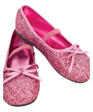 Light Pink Kids Flat Shoes