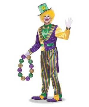 Mardi Gras Clown Men Costume