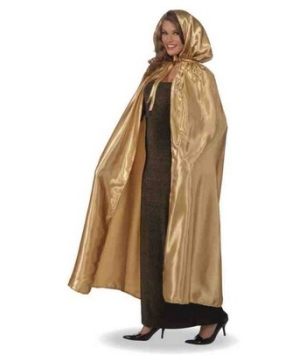Masquerade Cape - Costume Accessory - Gold