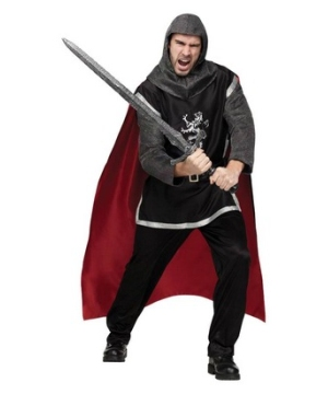 Dark Medieval Knight Mens Costume