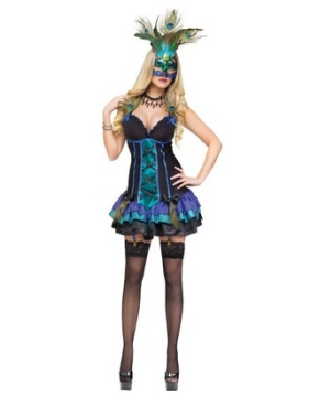 Midnight Peacock Adult Costume