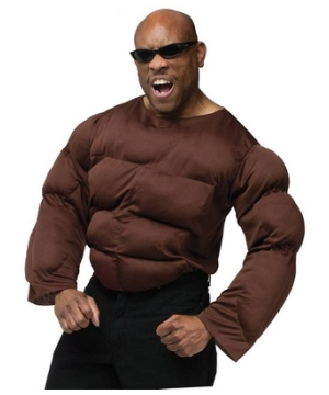 Dark Skin Tone Muscle Chest Costume