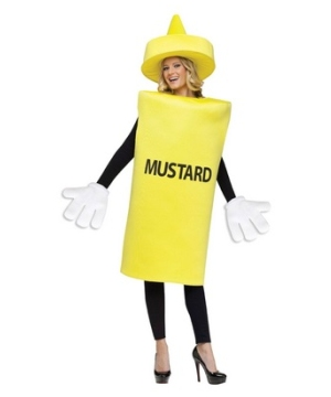 Mustard Bottle Adult Costume
