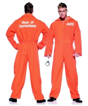 Orange Prison Jumpsuit Adult Costume