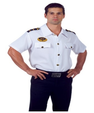 Pilot Shirt Adult Costume