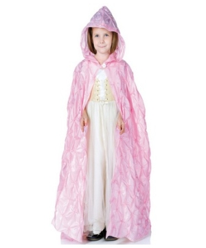 Pink Cape Girl Costume