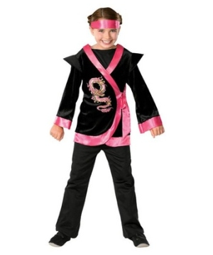 Pink Dragon Ninja Girl Costume
