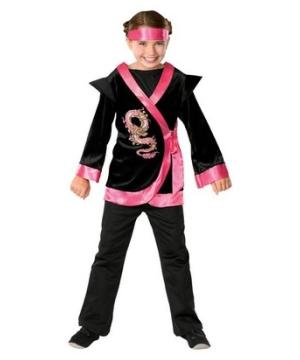 Pink Dragon Ninja Girl Costume