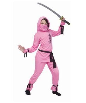 Pink Ninja Kids Costume