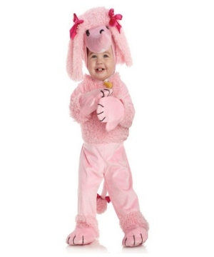 Pink Poodle Baby Girls Costume