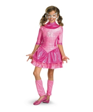 Pink Spider Girl Kids Costume