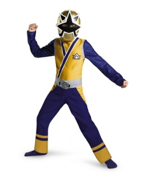 Power Ranger Samurai Gold Ranger Boys Costume