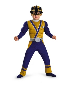 Power Ranger Samurai Gold Ranger Muscle Toddler Boys Costume