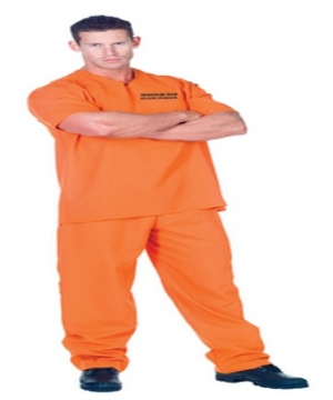 Public Offender Adult Costume