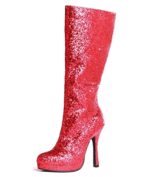 Red Glitter Adult Shoes