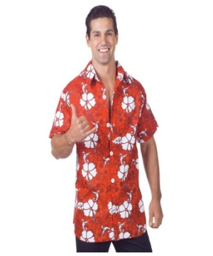 Red Hawaiian Adult plus size Costume