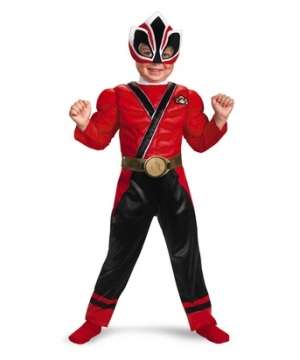 Samurai Red Ranger Muscle Kids Costume