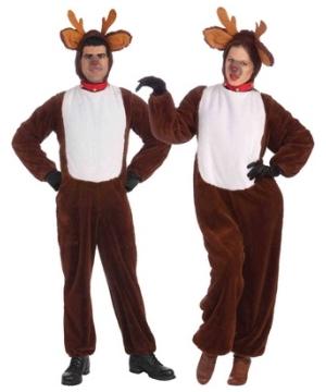 Adult Plush Reindeer Unisex Costume