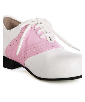 Saddle White and Pink Adult Shoes