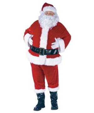 Santa plus Suit Complete Velour Costume