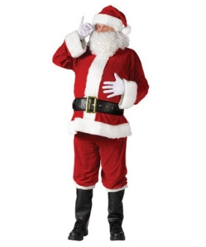 Santa Adult Suit Complete Velour Costume