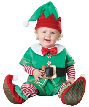 Santas Little Elf Baby Costume