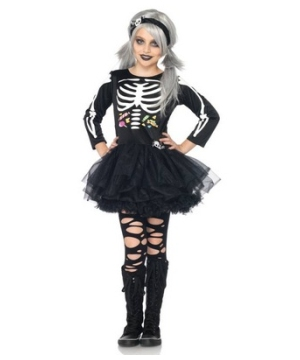 Scary Skeleton Kids Costume