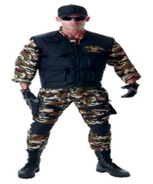 Seal Team Men Costume deluxe