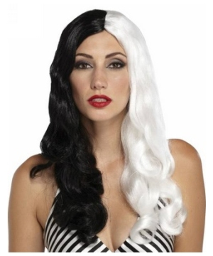 Sinestress Black and White Wig Adult