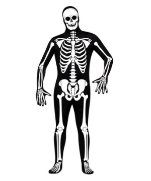Skeleton Skin Suit Adult Costume