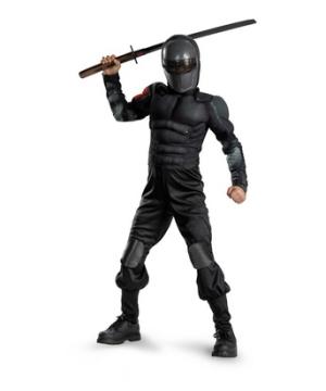 G.i. Joe Snake Eyes Muscle Boys Costume