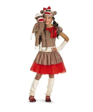 Sock Monkey Kids Costume