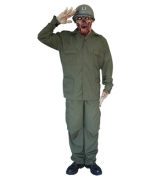Zombie Soldier Adult Costume