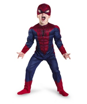 Amazing Spiderman Muscle Boys Costume