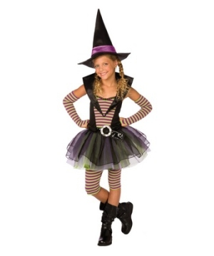 Striped Witch Kids Costume