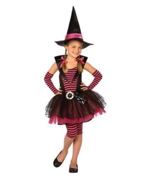 Stripey Witch Kids Costume