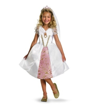 Tangled Rapunzel Wedding Gown Disney Girl Costume