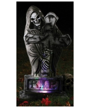 Tombstone Gothic Reaper Halloween Decoration