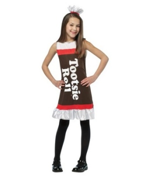Tootsie Roll Ruffle Dress Girl Costume