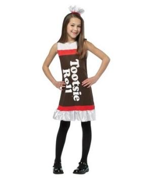Tootsie Roll Ruffle Dress Girl Costume