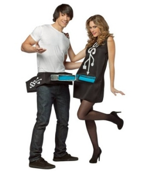 Usb Port and Stick Adult Costume