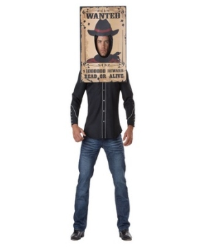 Wanted Poster Adult Costume