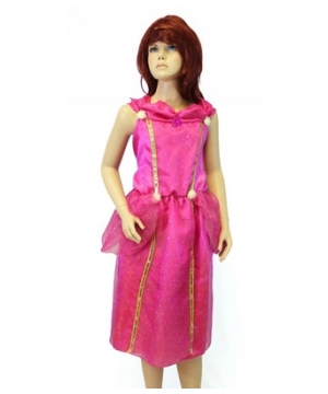 Dazzling Pink Princess Girl Costume deluxe