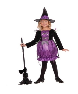 Purple Cauldron Witch Costume - Kids Costume