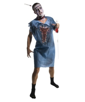 Zombie Patient Gown Mens Costume